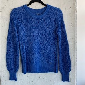 Abercrombie & Fitch Puff Sleeve Crew Neck Sweater